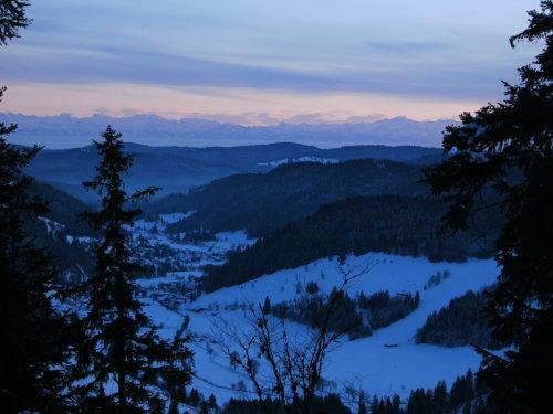 Alpensicht am Menzenschwanderblick