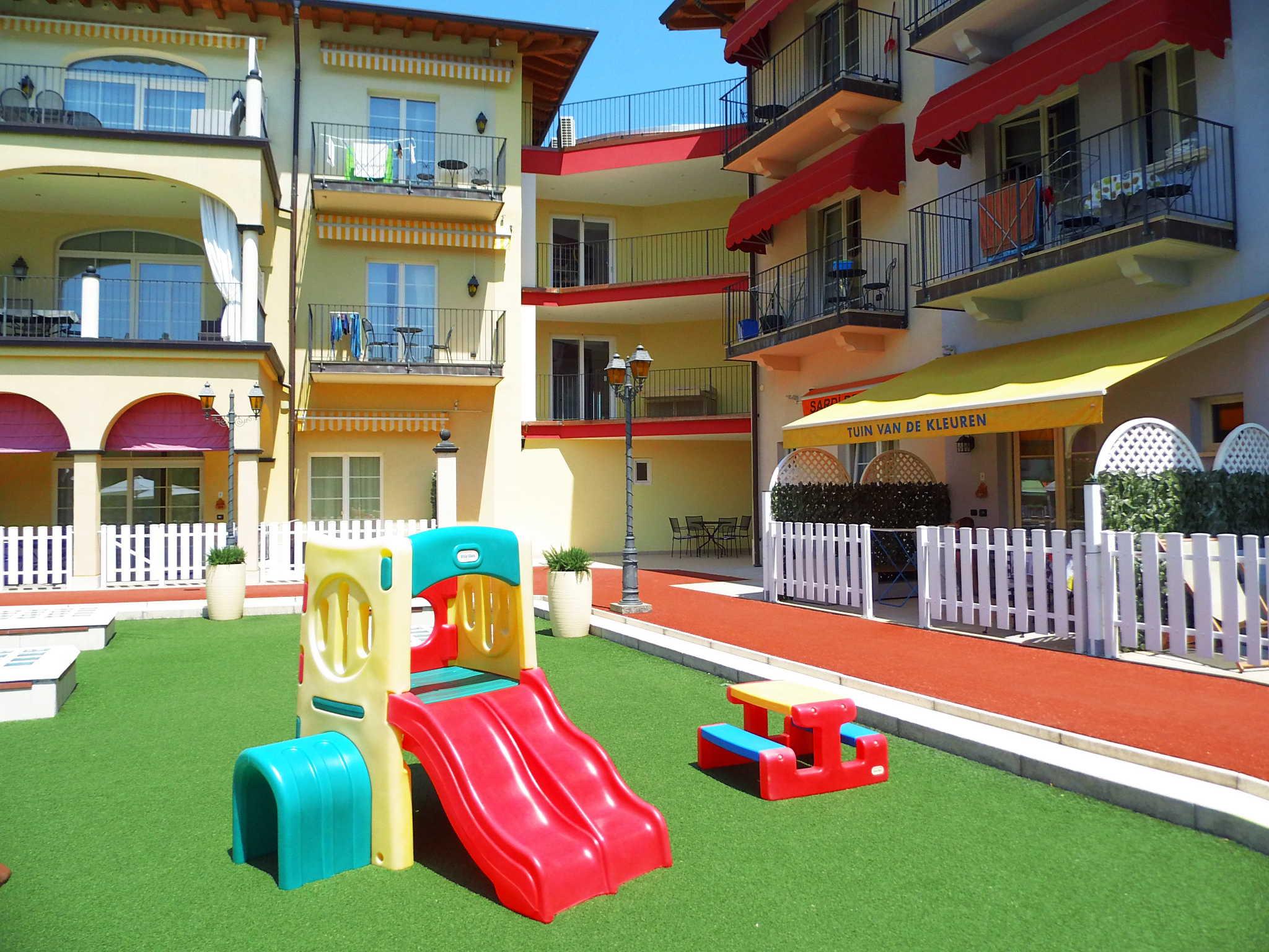Der Spielplatz für Kleinkinder.