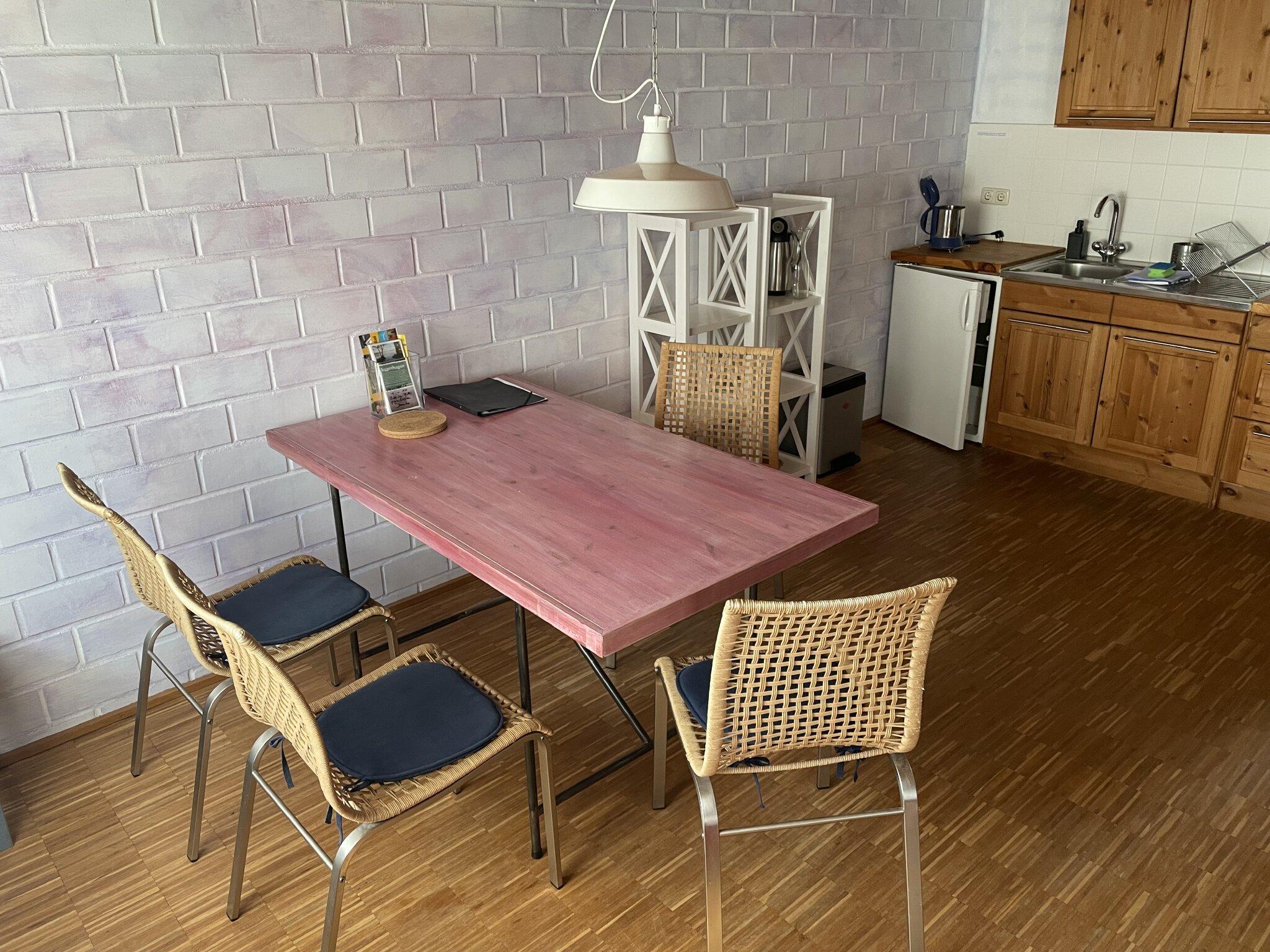 Blaue Wohnung Wohnküche