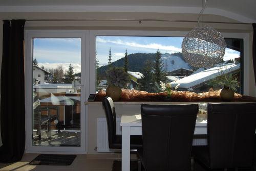 Panorama-Aussicht vom Esstisch