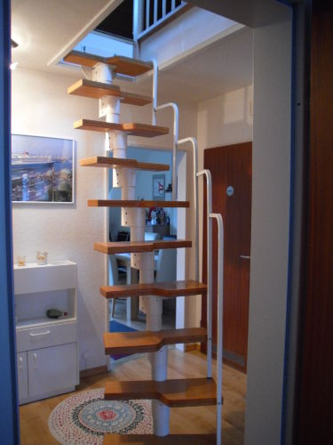 Treppe zum Schlafraum Obergeschoß
