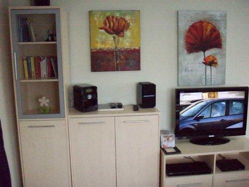 Das Wohnzimmer mit neuem Fernseher
