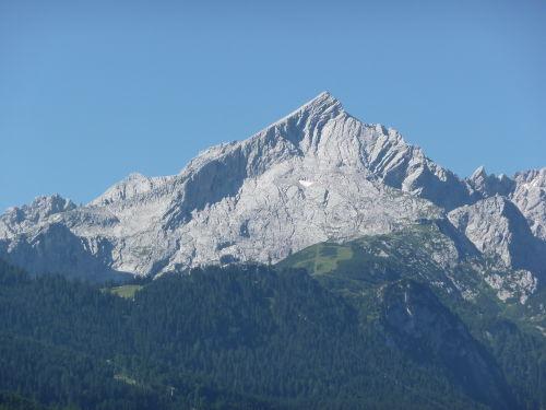 Blick vom Balkon auf die Alpspitze