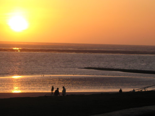 Sonnenuntergang von der Terasse