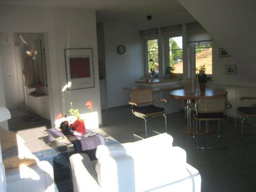 Wohnraum mit Küche und Essen
