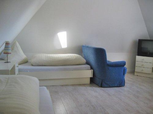 Schlafzimmer im Spitzboden...