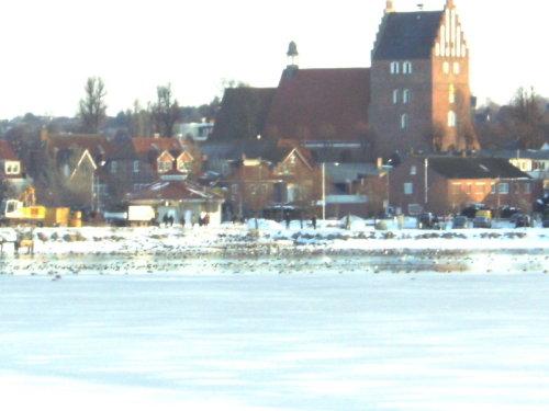 der Ort vom See aus gesehen