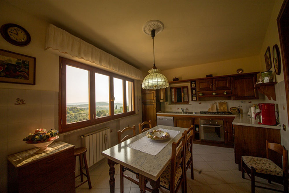 der traumhafte Ausblick aus der Küche
