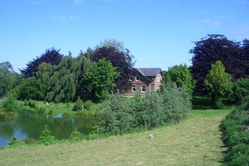Teich und Gartenanlage