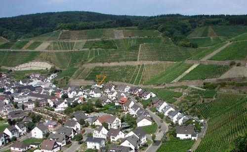 Lage der Ferienvilla am Rotweinwanderweg