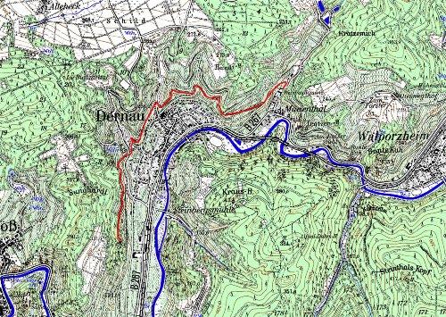 Gemarkung Dernau mit Rotweinwanderweg