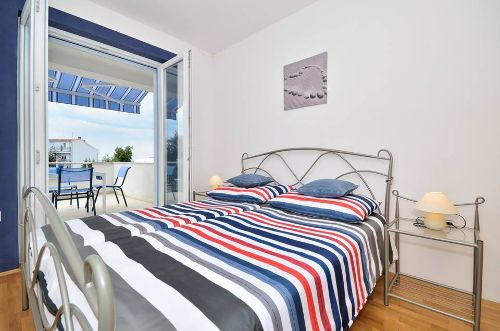 Blaue Wohnung - Schlafzimmer
