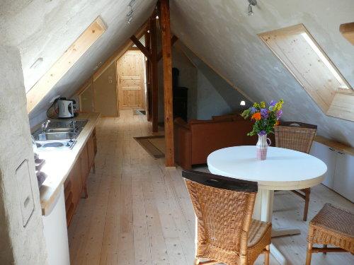 Wohnzimmer u. offene Küche Fewo3