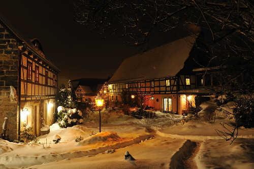 Innenhof im Winter 2010