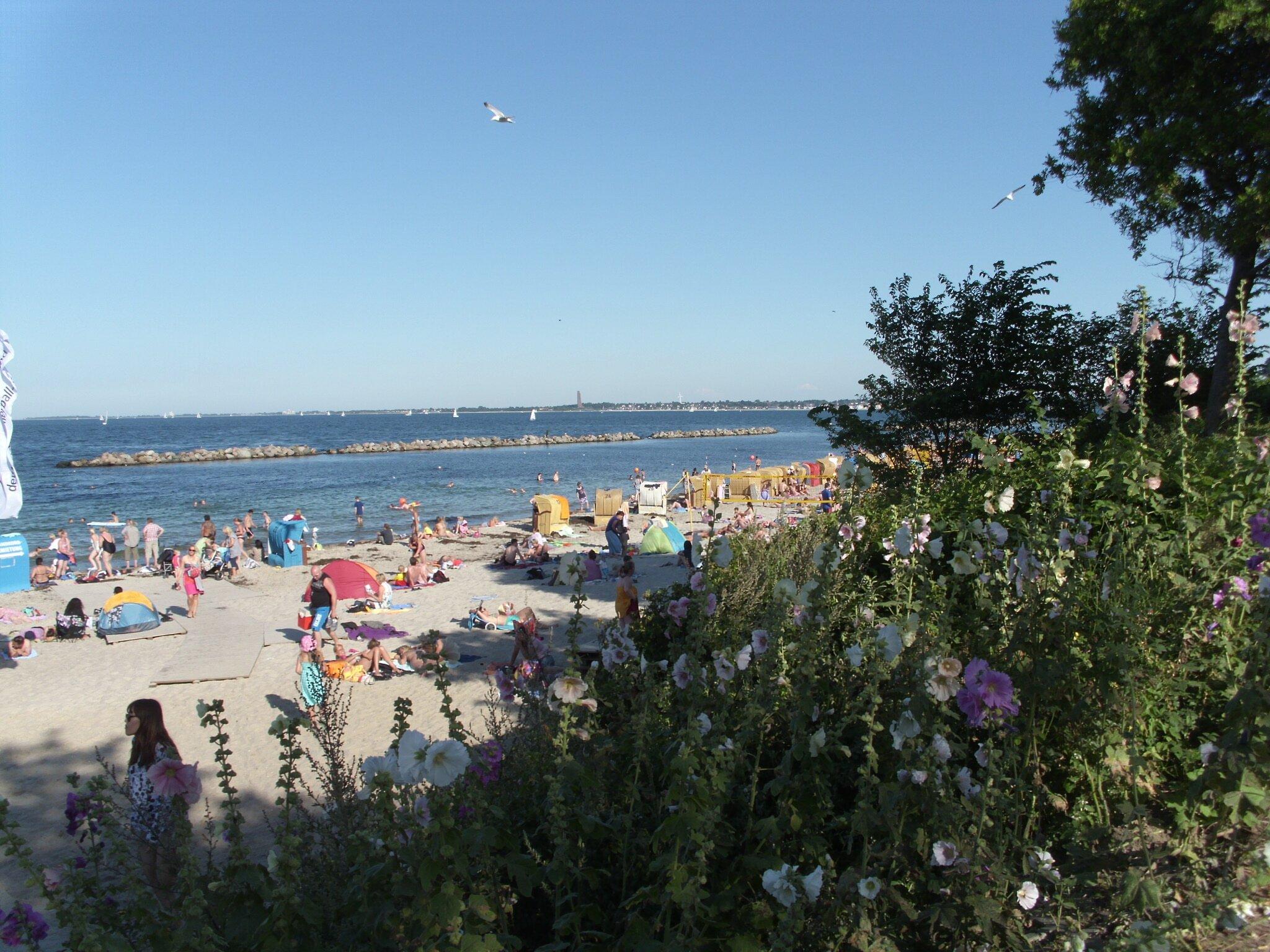 Der Strand in Schilksee
