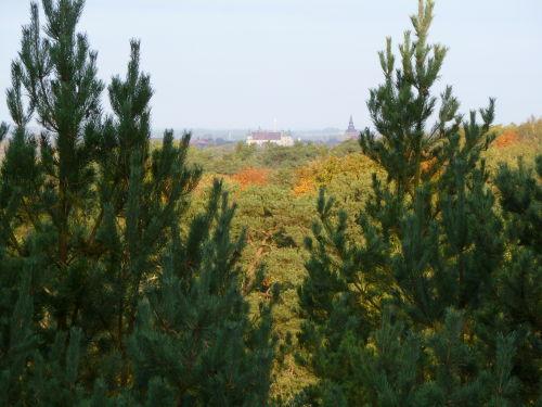 Heidberge, Ausblick auf Schloss Güstrow