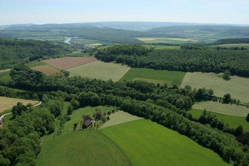 Hof Steinbreite und Umgebung mit Weser