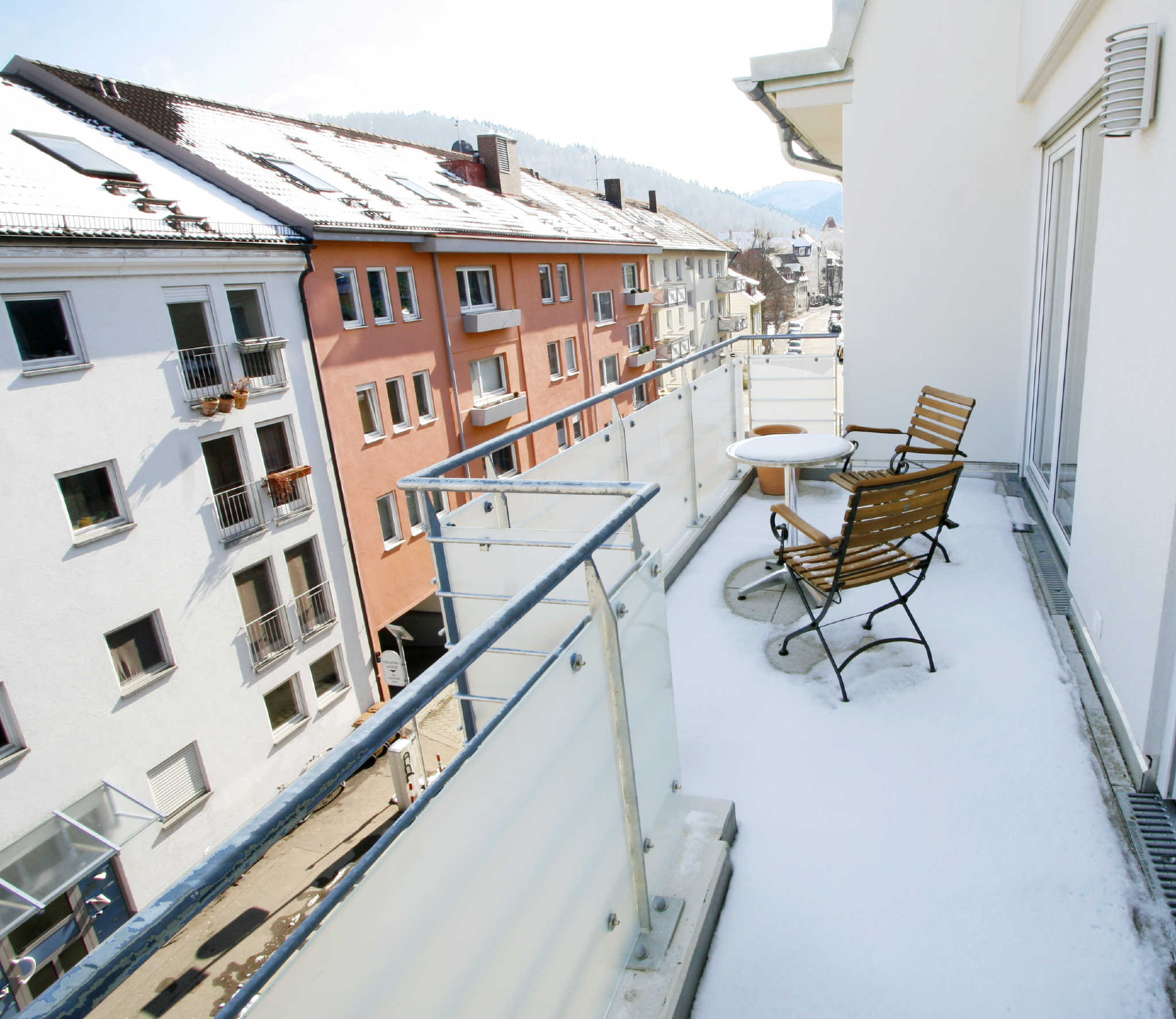 Balkon im Winter