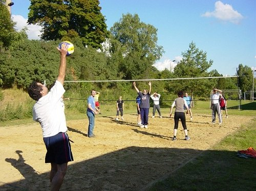 Volleyball, Fu�ball, Tischtennis, Dart