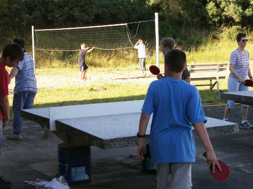 Tischtennis, Volleyball, Fu�ball, Dart