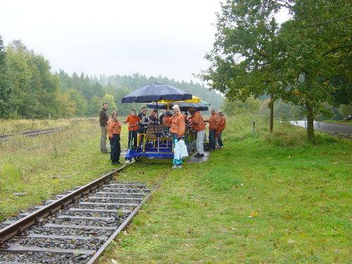 Draisinentour Schweriner-Seenplatte