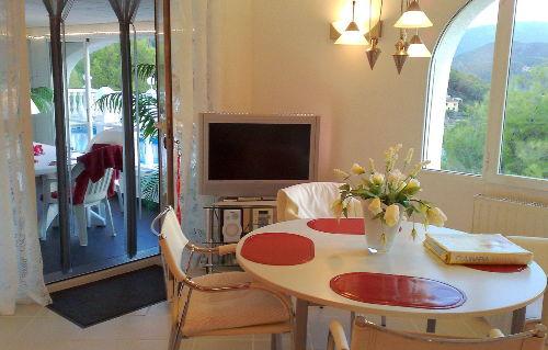 Wohnzimmer Ferienwohnung Valencia