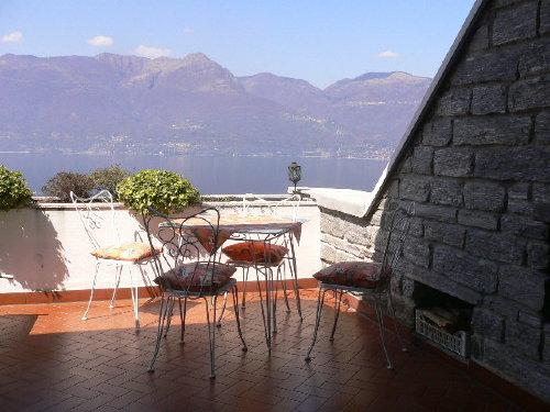 Teilüberdachte Terrasse, Blick nach West
