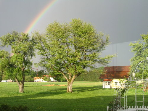 Regenbogen über dem Hexenhäuschen