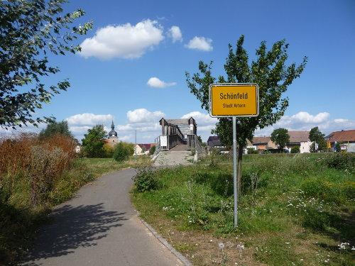 Unstrutradweg nach Schönfeld