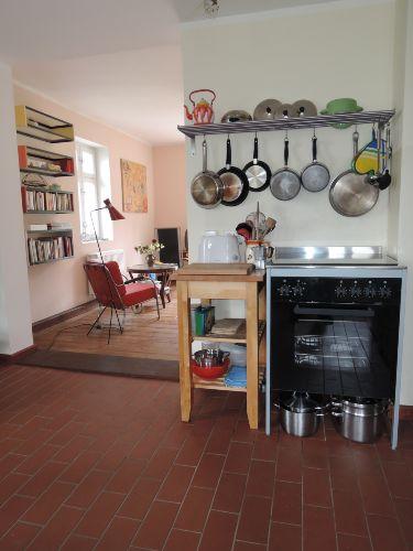 Ein Blick in der K�che und Wohnzimmer