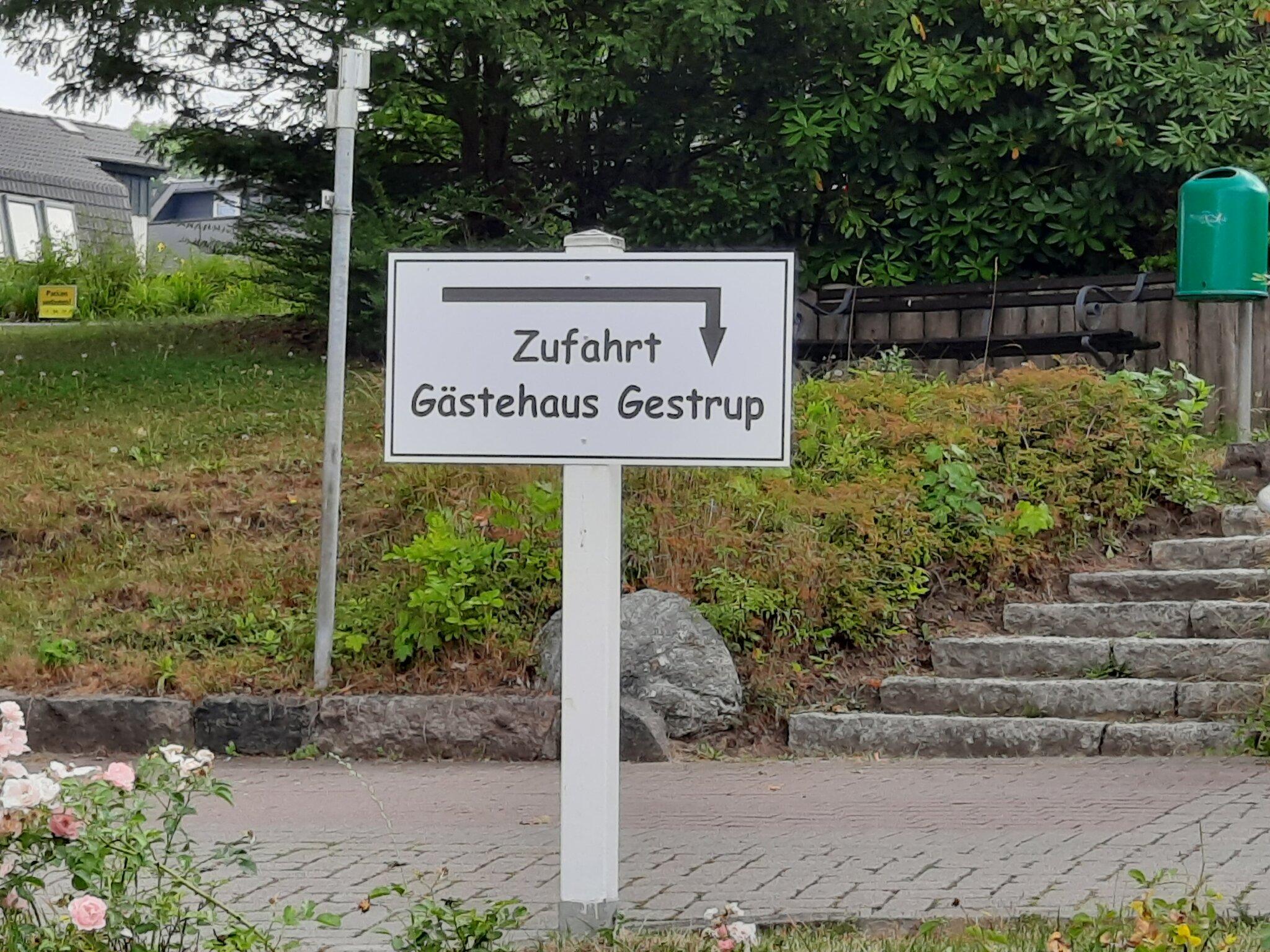 Zufahrt Gästehaus Gestrup