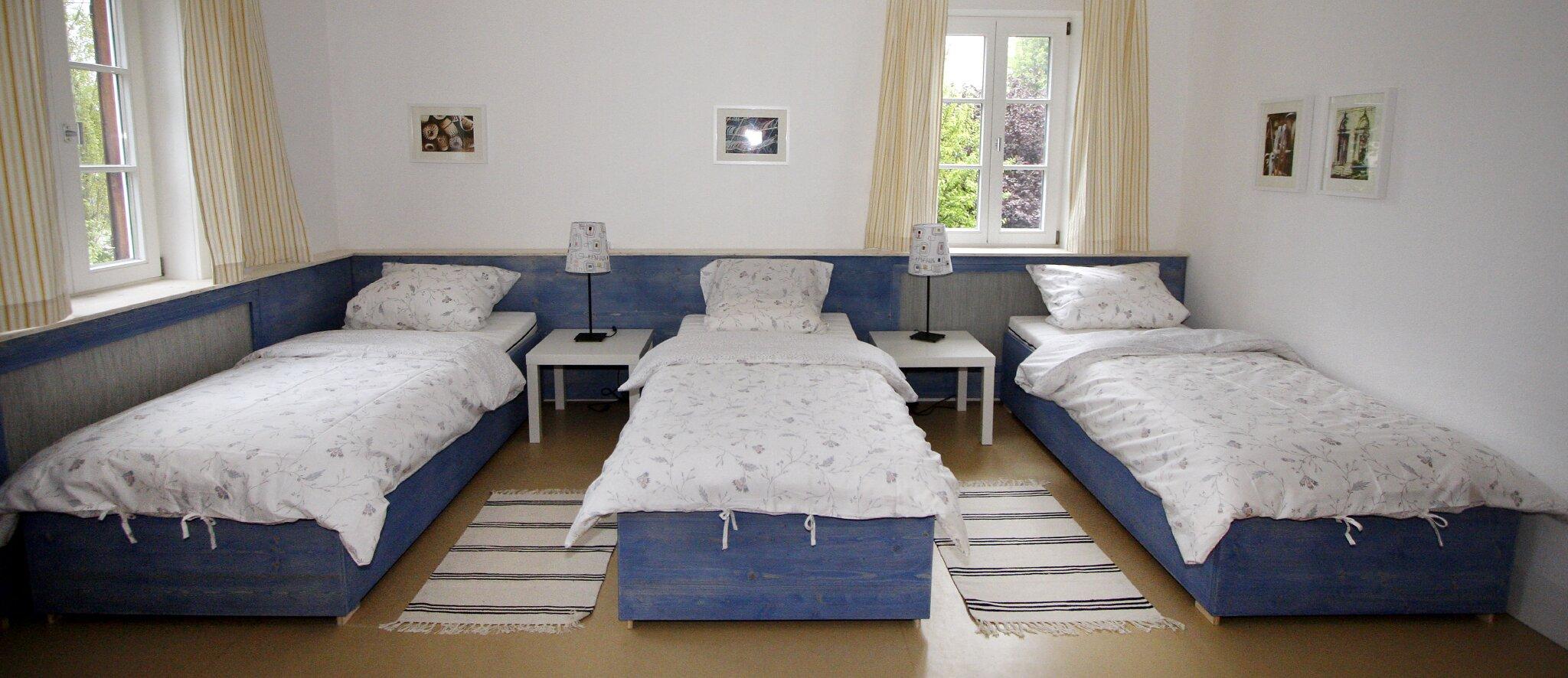 Wintergarten mit Doppelbett