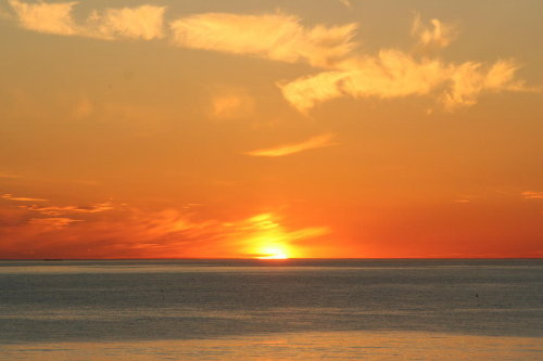 beim Sonnenuntergang