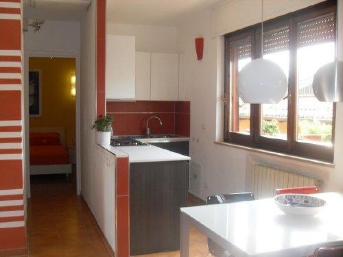 Die Küche und das Schlfazimmer