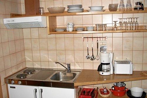 kleine Küche, aber mit vielen Extras