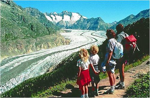 Ausflug in die Alpen, Aletsch-Gletscher