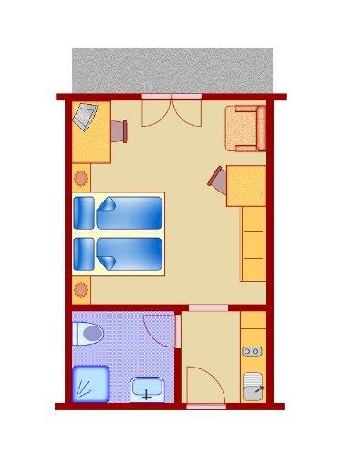 Beispiel: 1 Zimmer - FeWo