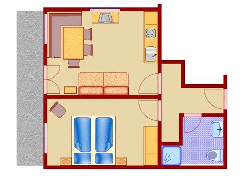 Beispiel: 2 Zimmer - FeWo