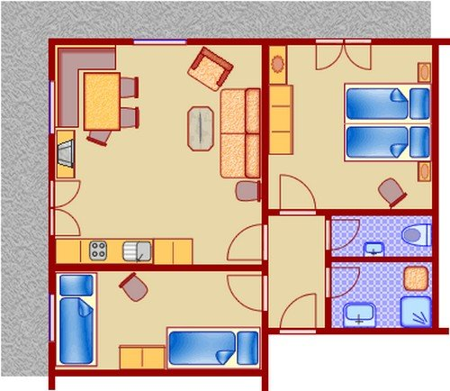 Beispiel: 3 Zimmer - FeWo