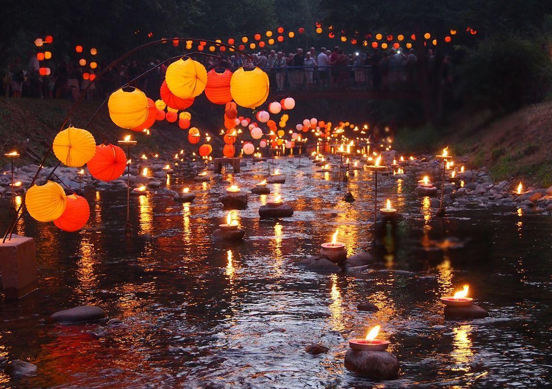 Lichterfest im Kurpark Juli