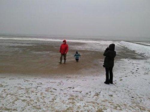 Winterstrand Cuxhaven D�se
