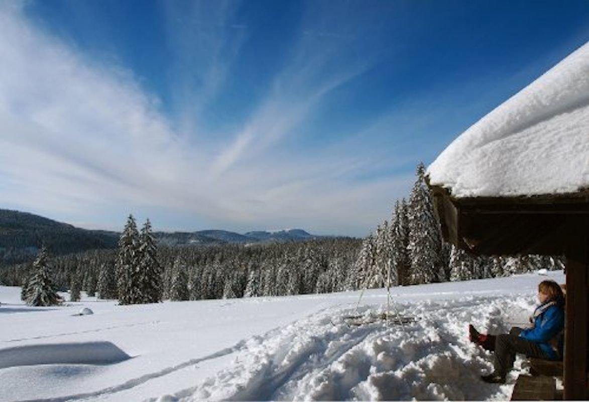 Winterlandschaft im Schwarzwald.