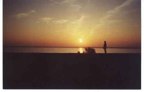 Sonnenuntergang am Bodden auf Ummanz