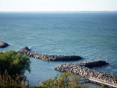 Blick auf den Hafen von Lohme