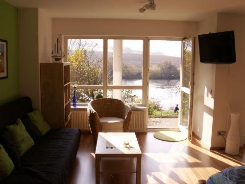 Wohn-/Schlafzimmer mit tollem Ausblick