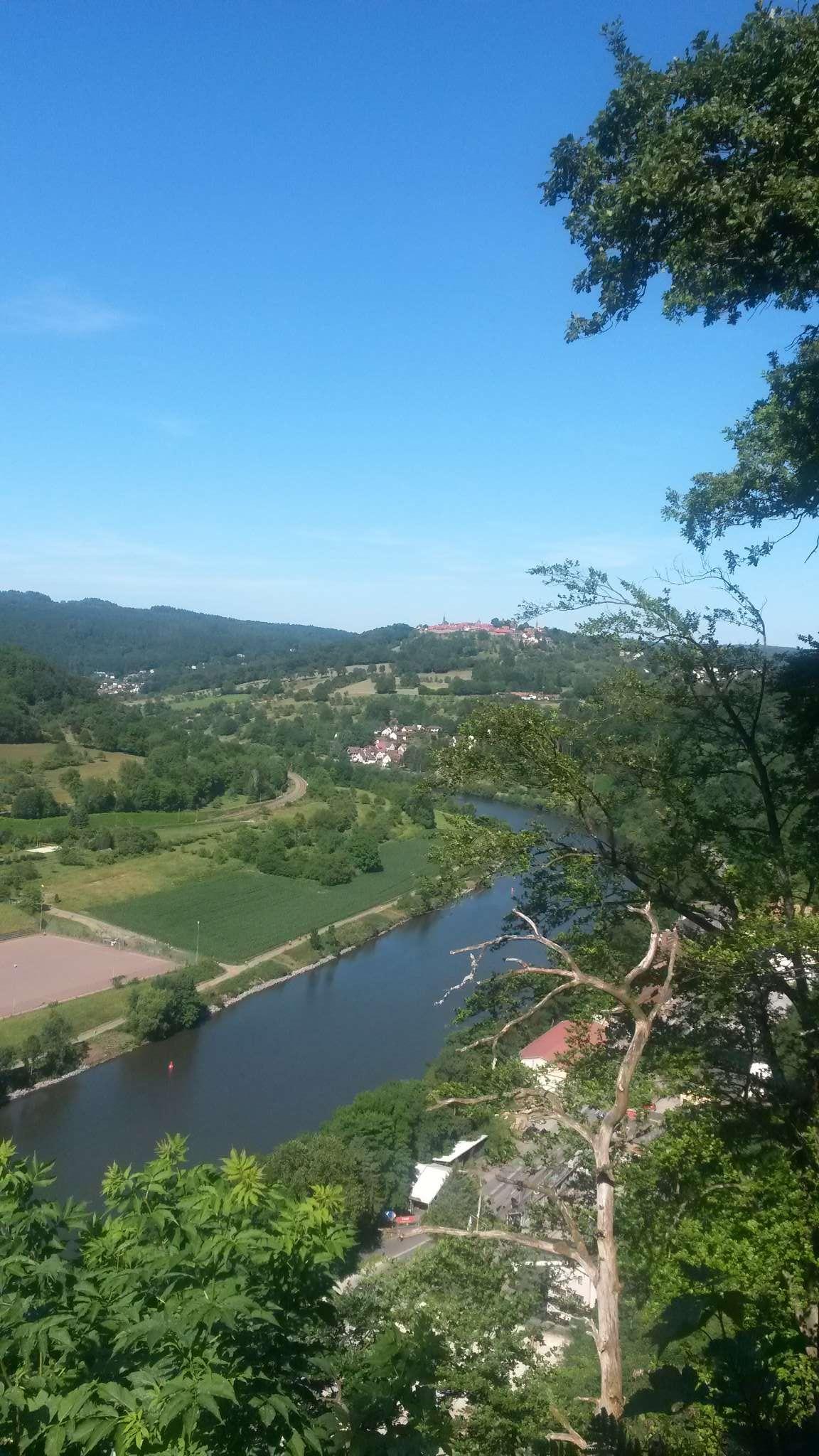 Blick vom Garten auf die Mittelburg