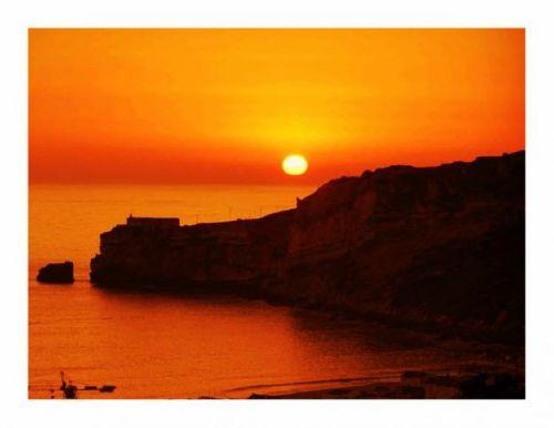 Sonnenuntergang in Nazare