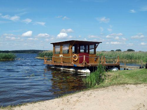 Floß am Woblitzsee