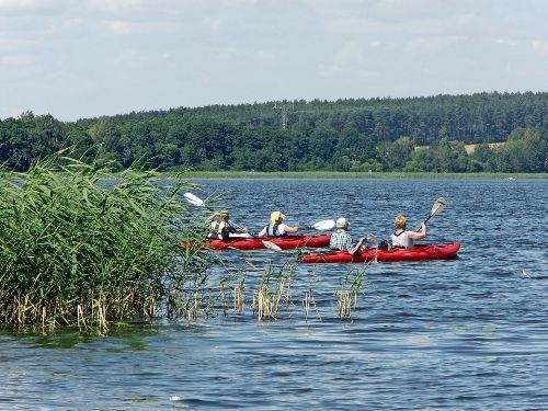 Wasserwanderer auf dem Woblitzsee