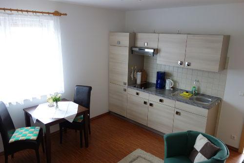 Wohnküche in der FeWo Günther